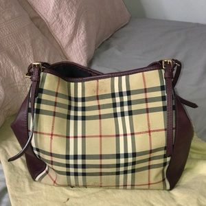 Burberry Canter in Horseferry Check & Leather Bag